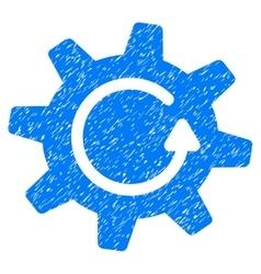 Cogwheel Rotation Direction Grainy Texture Icon vector