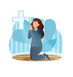 concept prayer vector image