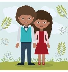 Couple relationship portrait design vector