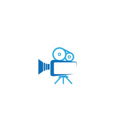 creative abstract camera logo vector image