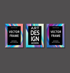 Creative design poster with vibrant gradients vector