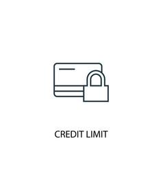 Credit limit concept line icon simple element vector