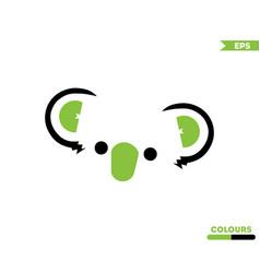 cute koala logo vector image