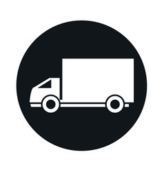 delivery truck model transport vehicle block and vector image