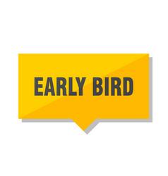 Early bird price tag vector