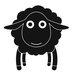 Face of sheep icon simple style vector