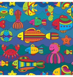 Fishes background vector image