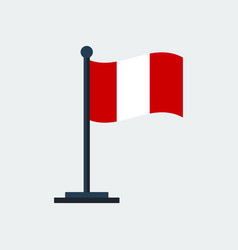 flag of peruflag stand vector image