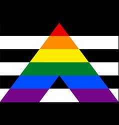 Flag rectangular shape icon on white background vector