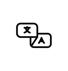 Flat line translate bilingual icon symbol sign vector
