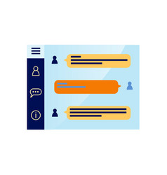 flat mobile communication application vector image