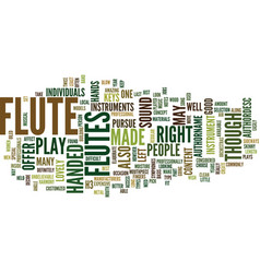 Flutes text background word cloud concept vector