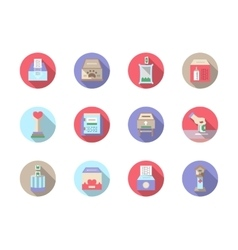 Fundraiser flat color icons set vector image