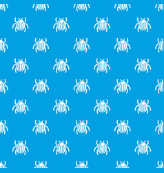 garden beetle bug pattern seamless blue vector image