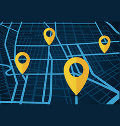 gps navigation service concept 3d map with vector image