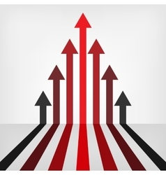 Graph arrows background vector