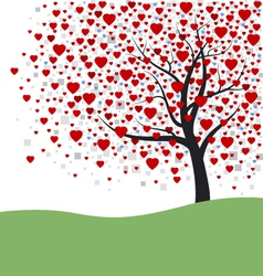 Heart Tree vector image