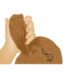 holding money vector image