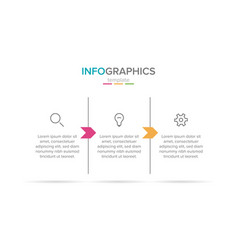 infographic label template with icons 3 vector image