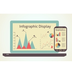 Infographics devices vector
