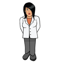 Lab coat scientist female vector