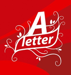 Logo letter A with floral patterns vector