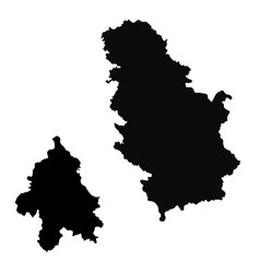 Map serbia and belgrade isolated vector