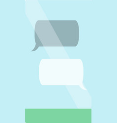 message chat bubbles on phone screen template for vector image