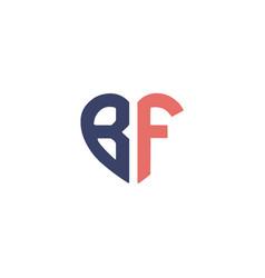Monogram b and f letter mark logo design luxury vector