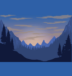 Mountain landscape in flat style design element vector