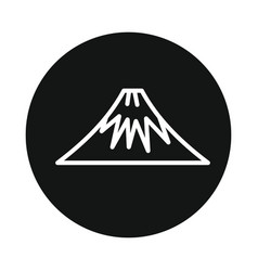 Mountain volcano fuji icon isolated on white vector