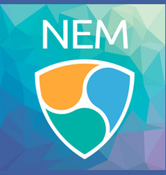 Nem xem blockchain cripto currency logo vector