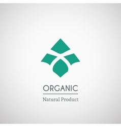 Organic natural product logo vector image