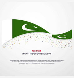 Pakistan happy independence day background vector