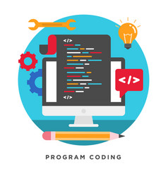 program coding concepts vector image