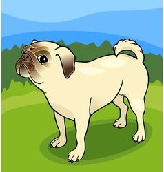 pug dog cartoon vector image