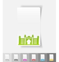 Realistic design element Dubai Palace vector