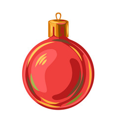 red christmas ball vector image