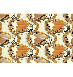 Seamless butterfly background - Pearly Heath vector image