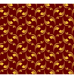 Seamless pattern in baroque style vector