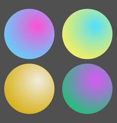 set of gradient futuristic circles design vector image