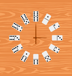 simple clock domino flat vector image