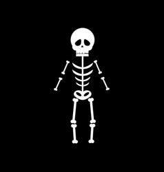 skeleton halloween vector image