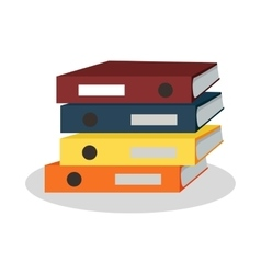 Stack of Binders with Papers vector image