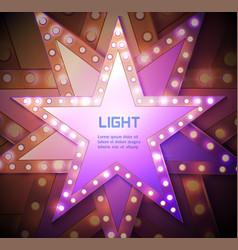 stars retro light banner vector image