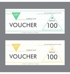 Template design gift voucher with triangular vector