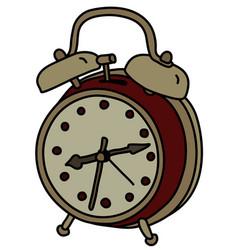 The vintage alarm clock vector