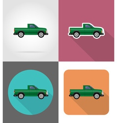 transport flat icons 50 vector image