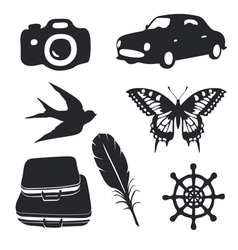 Travel pictograms set vector image