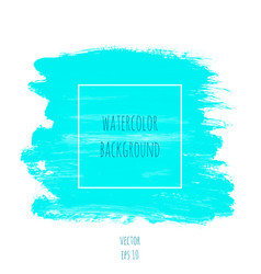 turquoise blue watercolor texture background vector image